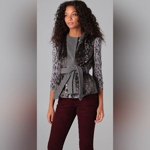 Rebecca Taylor Leopard Faux Fur Vest